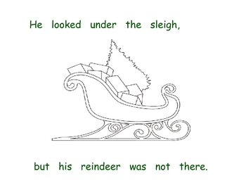 Santa Looked For His Reindeer - Positional Words