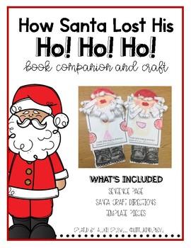Santa Lost His Ho!Ho!Ho! Book Craft