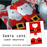Santa Love Candy Wrappers Favor Hand out Classroom Party F