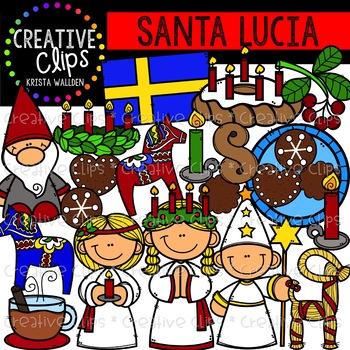 Santa Lucia Clipart {Creative Clips Clipart}