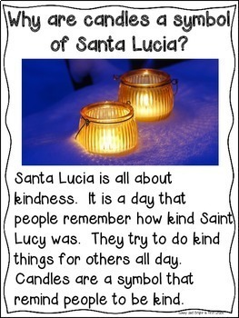 Santa Lucia for Kindergarten & First Grade | Holidays Around the World