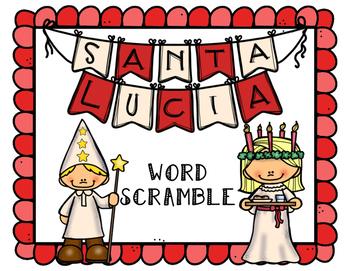 Santa Lucia Word Scramble