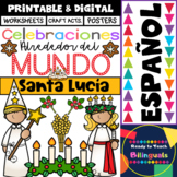 Santa Lucia in Spanish - Holidays around the World - Worksheets/Crafts/Posters