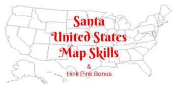 Santa Map Skills with Hink Pink Bonus