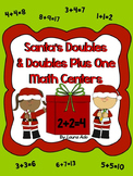 Santa Math Centers - Doubles and Doubles Plus One