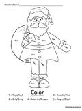 Santa Math Coloring Page