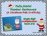 Santa Math Craftivity: Multiplication and Division Number Sentences