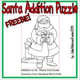 Santa Addition Puzzle Freebie