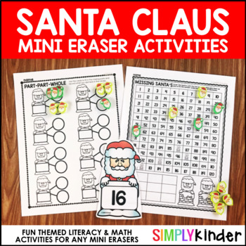 Santa Mini Eraser Activities