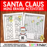 Santa Mini Eraser Activities