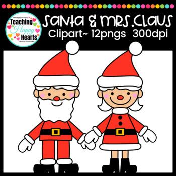 Santa & Mrs. Claus Clipart