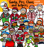 Santa, Mrs. Claus and Helpers