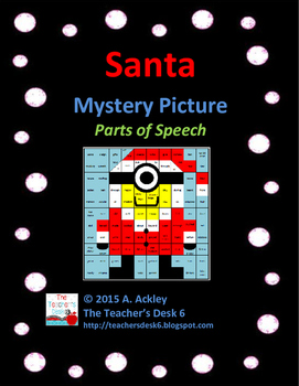Santa Mystery Picture Parts of Speech