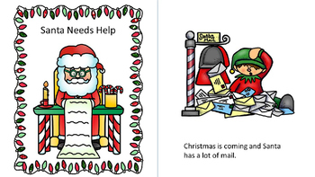 Santa Needs Help Interactive Core Word Book