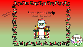 Santa Needs Help Interactive Core Word Book