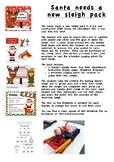 Santa Needs a New Sleigh Christmas Fun STEM Christmas lesson