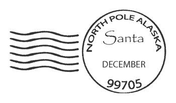 Santa North Pole Postmark