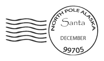 Santa North Pole Postmark