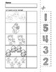 Santa Number Cut & Match Worksheets   Numbers 1-5