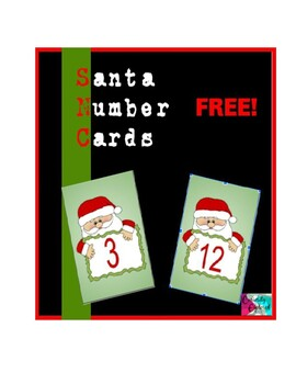 Santa Number Salt Tray Cards