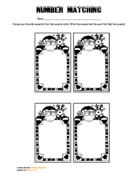 Santa Number and Number Word Cards
