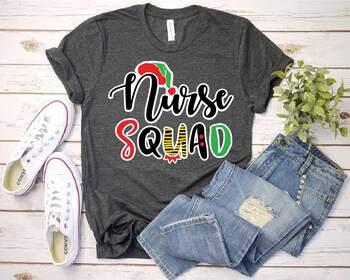 Santa Nurse Squad elf nurse SVG santa hat svg  xmas christmas 1593S