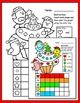 Christmas Activities - Color, Count and Graph Owl Theme