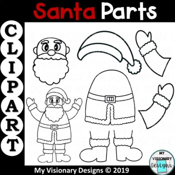Santa Parts Clipart (Christmas)