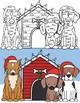 Santa Paws Addition Math Fact Fluency CRAFT