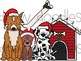 Santa Paws Digital Clip Art Set