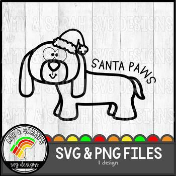 Santa Paws SVG Design
