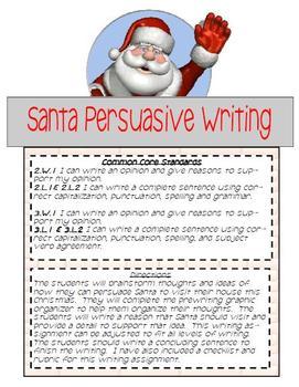 Santa Persuasive Writing