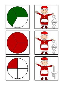 Santa Pies - Fraction Memory Game