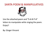 Santa Poem and S-A-N-T-A Manipulatives