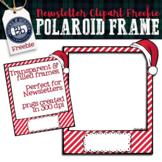 Santa Polaroid Frame Clipart Freebie