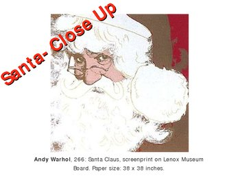 Santa Portrait ~ based on Andy Warhol's Santa~ PowerPoint Lesson