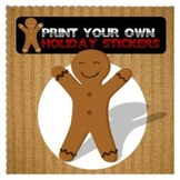 GingerBread Man Print Your Own Stickers