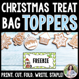 Santa Puppy Christmas Treat Bag Toppers