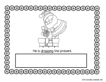 Santa Read and Stamp Emergent Reader