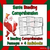 Santa Reading Comprehension: Christmas Reading Comprehension + 4 AUDIOBOOKS!