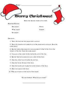 Santa Reading Comprehension Craft