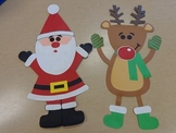 Santa and Reindeer Art Project