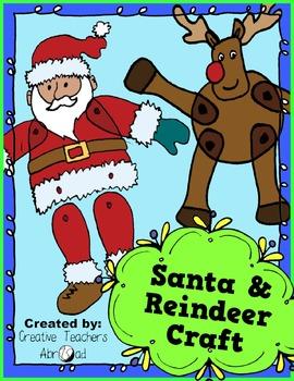 Santa & Reindeer Classroom Craft