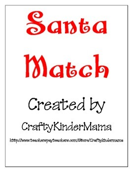 Santa Rhyming CVC Match Christmas Holiday Cut Paste