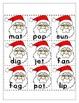 Santa Rhyming CVC Match Christmas Holiday Cut Paste