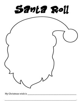 Santa Roll - A Christmas / December Math Activity to Practice Adding 2 Numbers