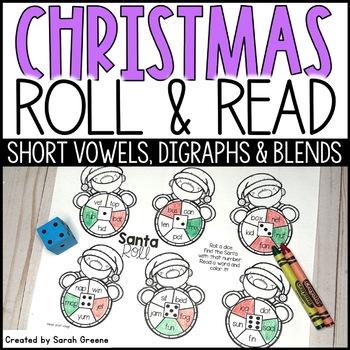 Santa Roll {CVC, digraphs & blends!}
