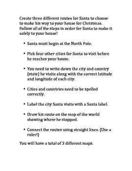 Santa Routes with Latitude and Longitude