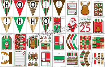 EDITABLE Santa Rudolph Christmas Classroom Decor SUPER PACK