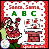 Santa, Santa, A B C - Alphabet Activity Freebie